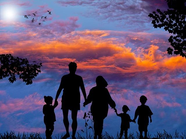 procházka rodiny