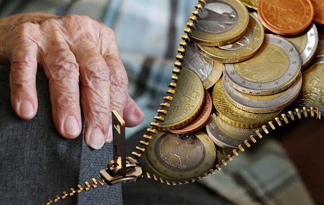 peníze seniora