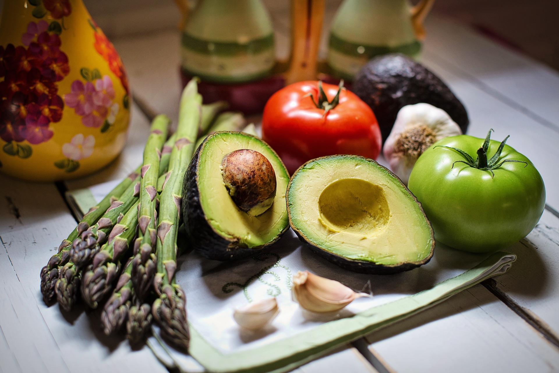 porce zeleniny