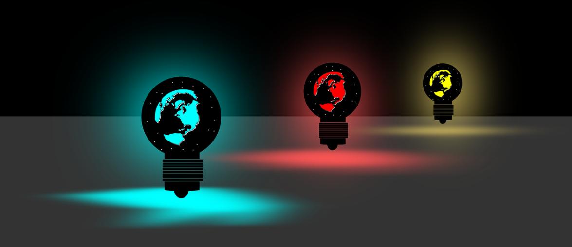 svítící lampy